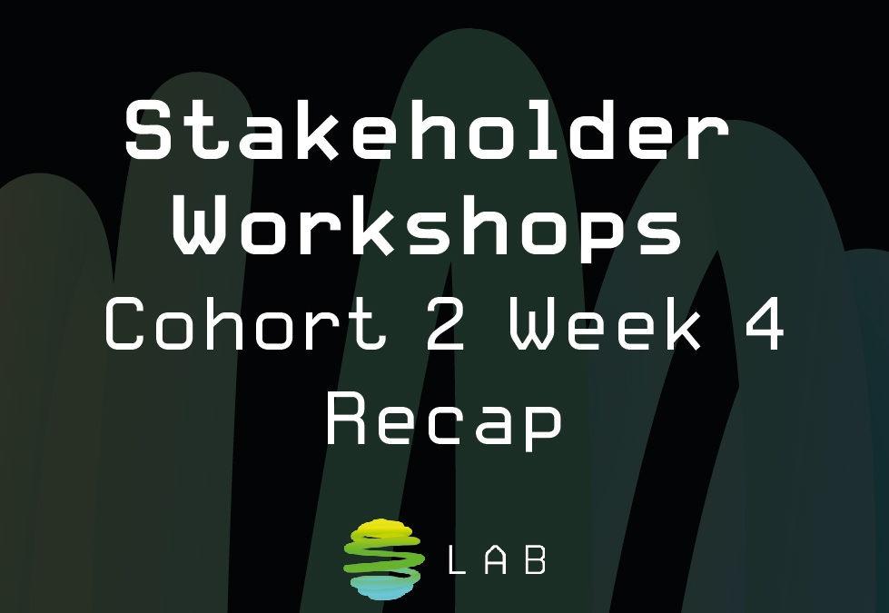 Stakeholder Workshops – Cohort 2 Week 4 Recap